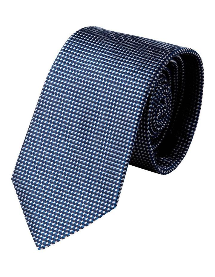 Slim Triple Weave Silk Tie-Blue image 1