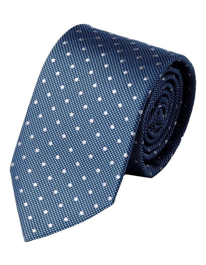 Slim Polkadot Silk Tie-Blue image 1