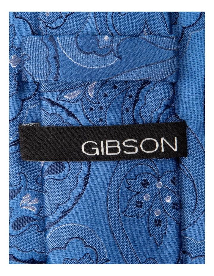 Slim Big Paisley Silk Tie- Blue image 2