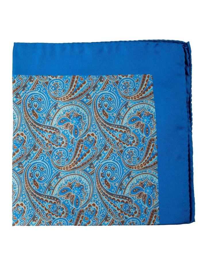 Paisley Silk Pocket Square-Blue image 1