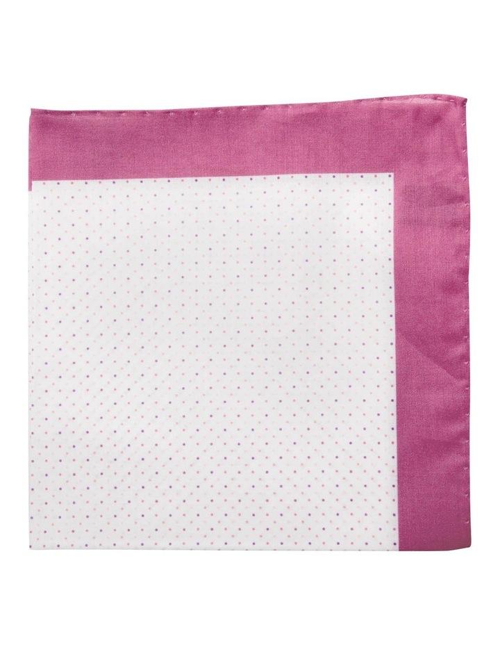 Polkadot Cotton Pocket Square-Berry image 1