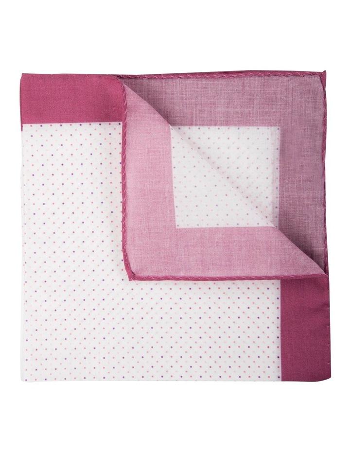 Polkadot Cotton Pocket Square-Berry image 2