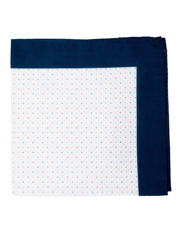 Polkadot Cotton Pocket Square-Turquoise image 1