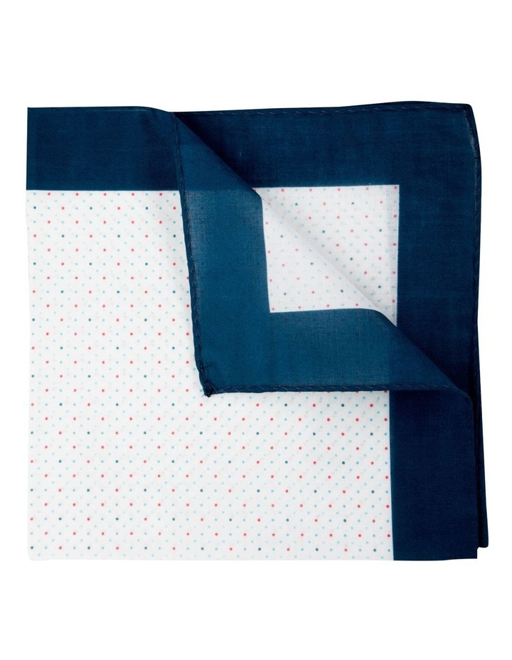 Polkadot Cotton Pocket Square-Turquoise image 2