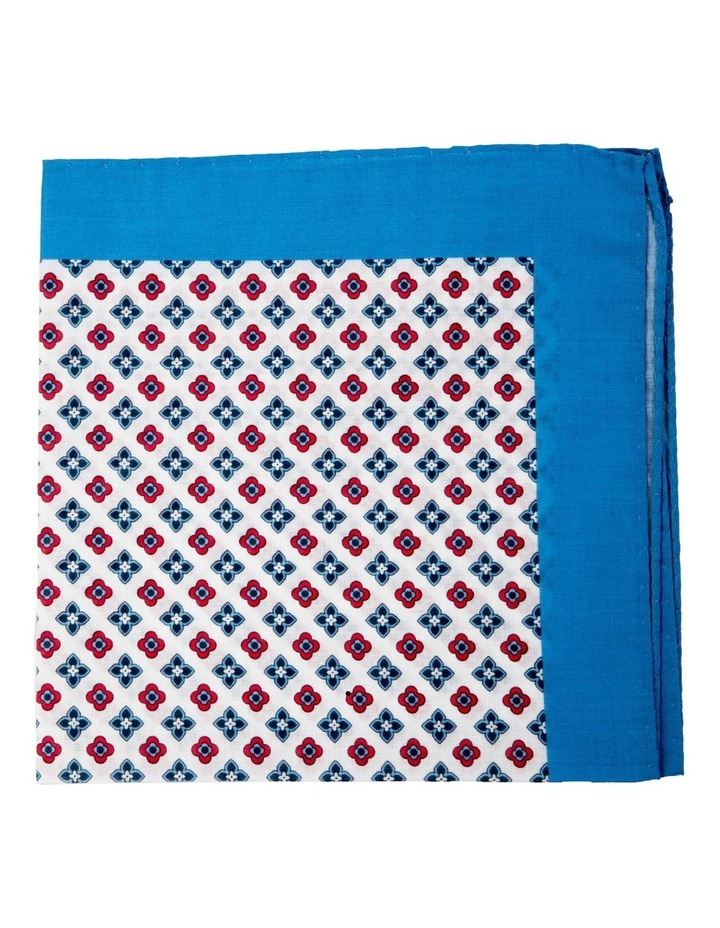 Foulard Cotton Pocket Square-Blue image 1