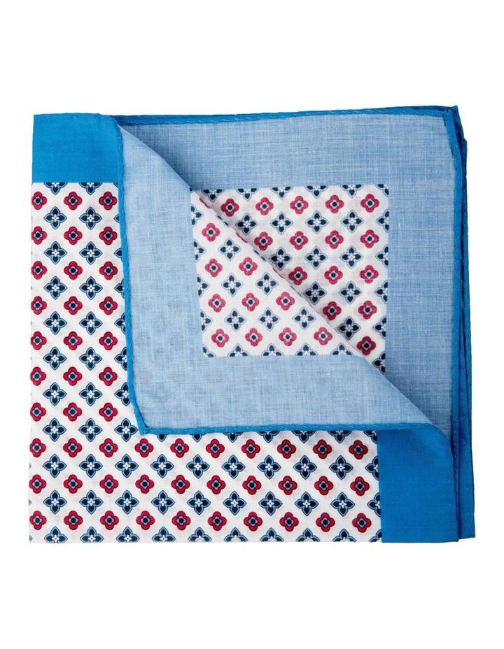 Foulard Cotton Pocket Square-Blue image 2