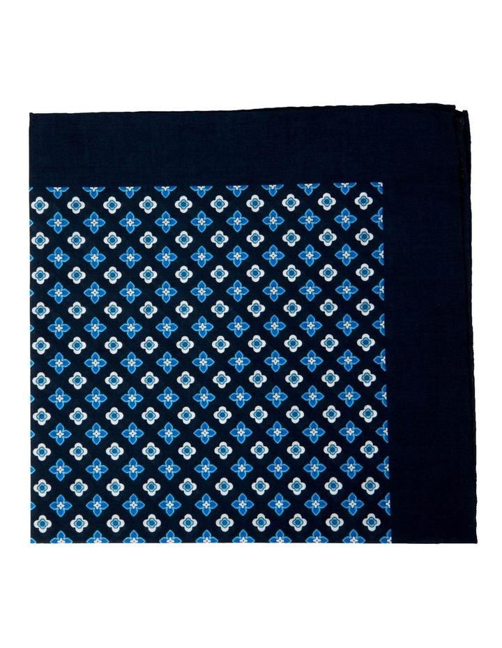 Foulard Cotton Pocket Square-Turquoise image 1