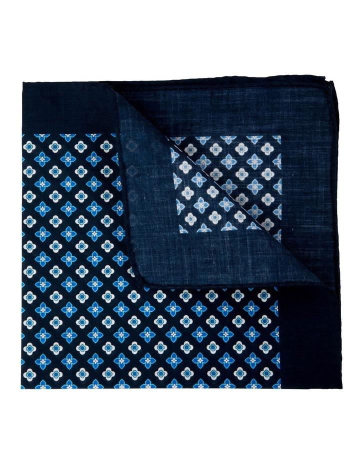 Foulard Cotton Pocket Square-Turquoise image 2
