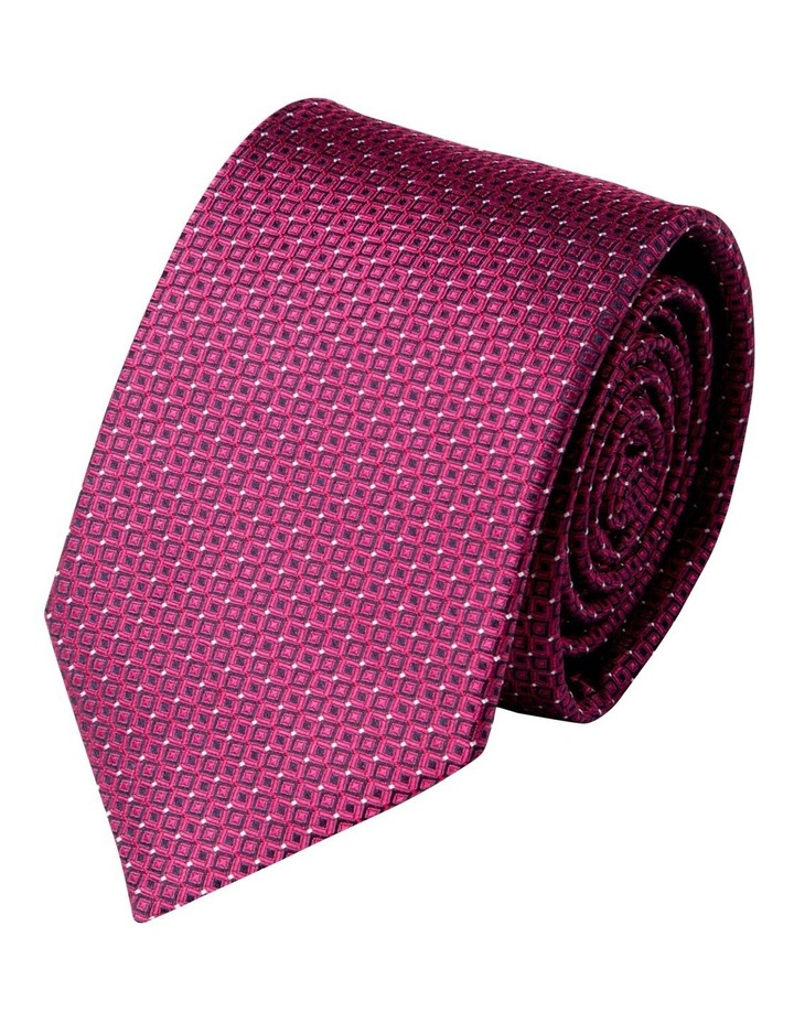 Slim Diamond Spot Silk Tie-Pink image 1