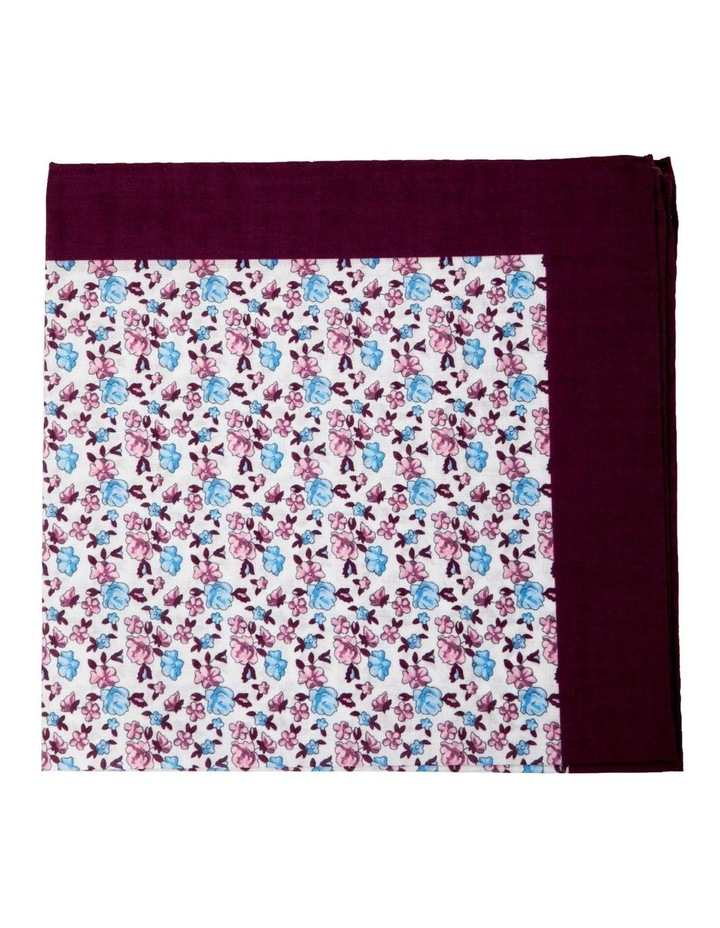 Neat Floral Cotton Pocket Square-Grey image 1
