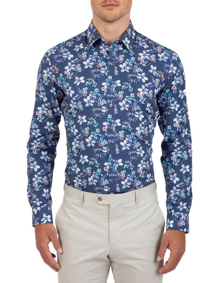 Slim Fit Indigo Flame Shirt image 1