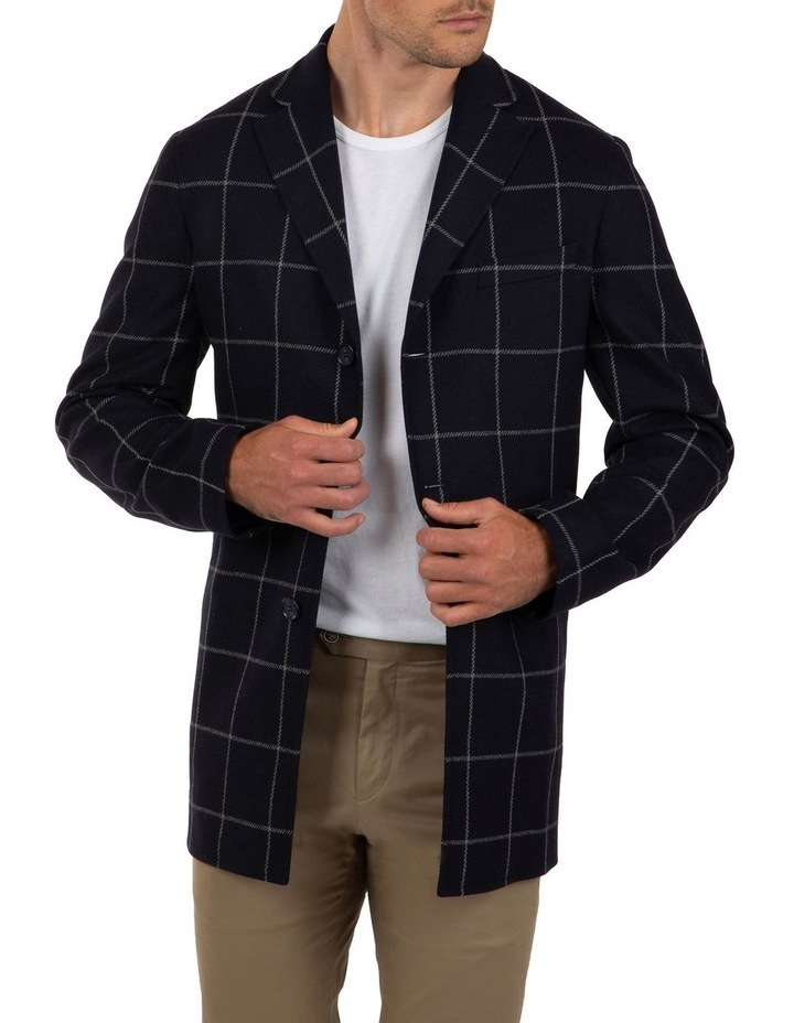 Slim Fit Mercury Big Check Melton Overcoat image 1