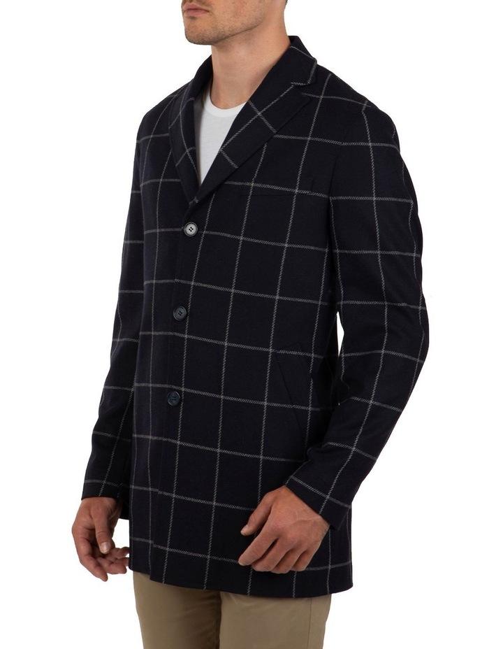 Slim Fit Mercury Big Check Melton Overcoat image 3