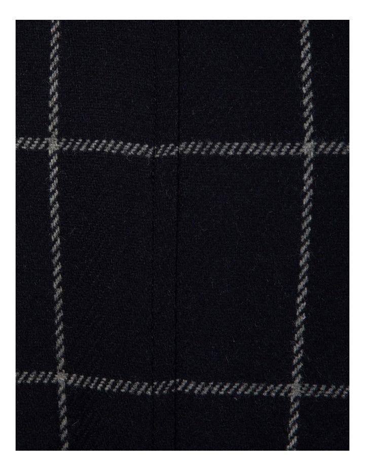 Slim Fit Mercury Big Check Melton Overcoat image 4
