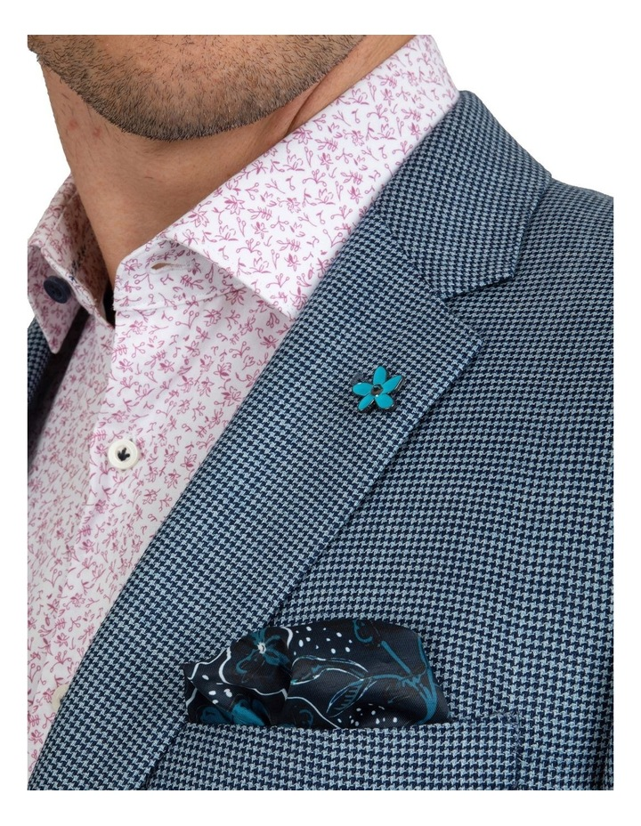 Slim Fit Nitro Houndstooth Wool Jacket FGK640 image 4