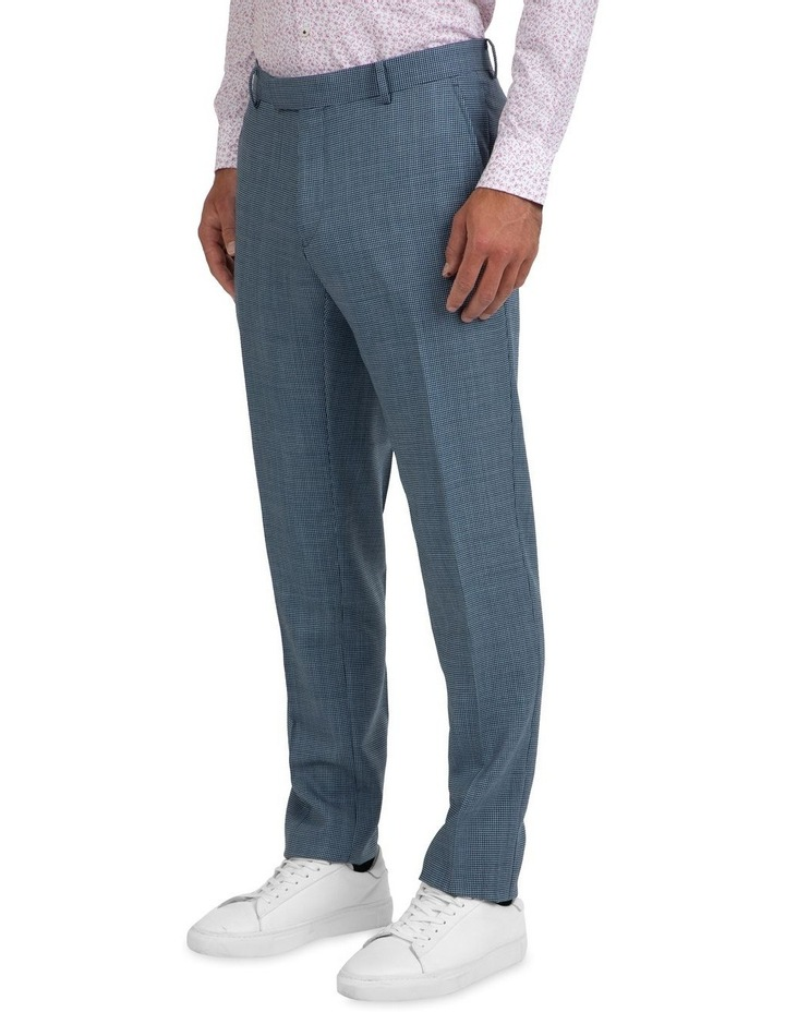 Slim Fit Caper Houndstooth Wool Trouser FGK640 image 2