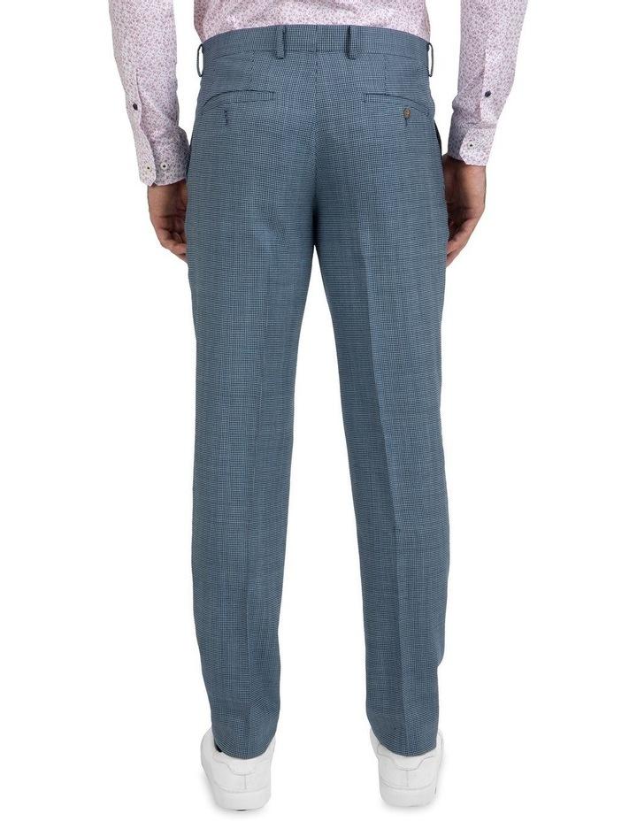Slim Fit Caper Houndstooth Wool Trouser FGK640 image 3