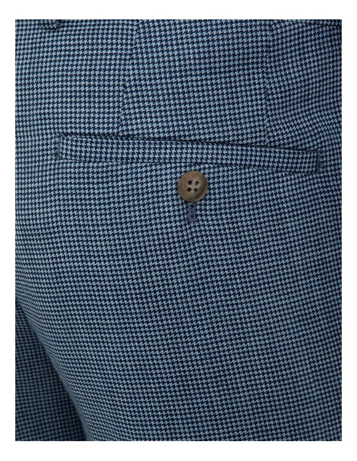 Slim Fit Caper Houndstooth Wool Trouser FGK640 image 4
