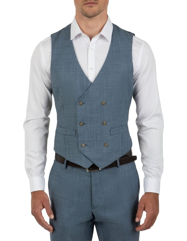 Slim Fit Joule Houndstooth Double Breasted Vest FGK640 image 1