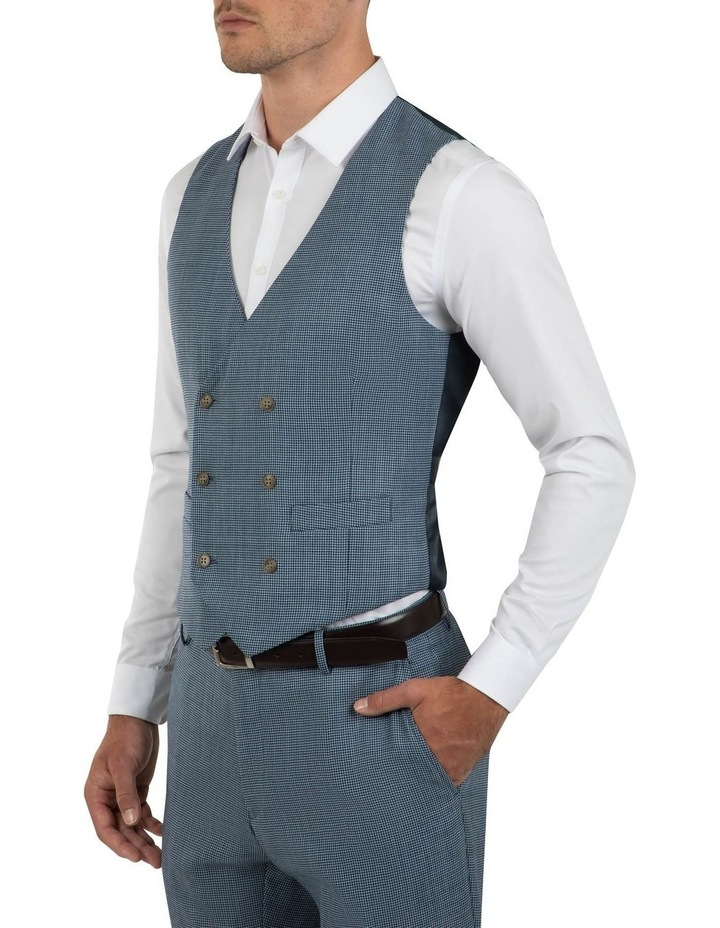 Slim Fit Joule Houndstooth Double Breasted Vest FGK640 image 2