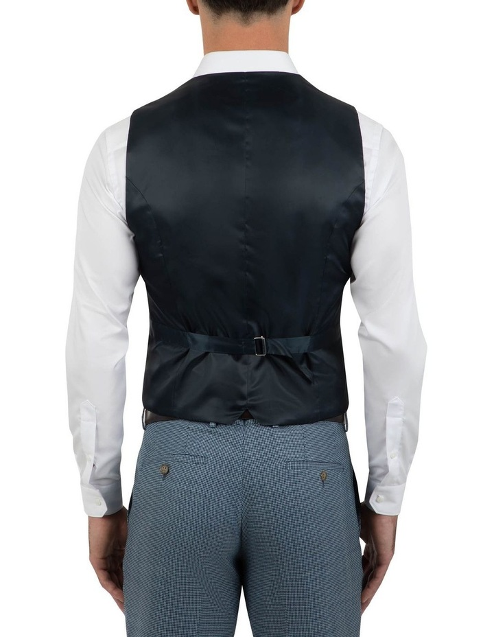 Slim Fit Joule Houndstooth Double Breasted Vest FGK640 image 3