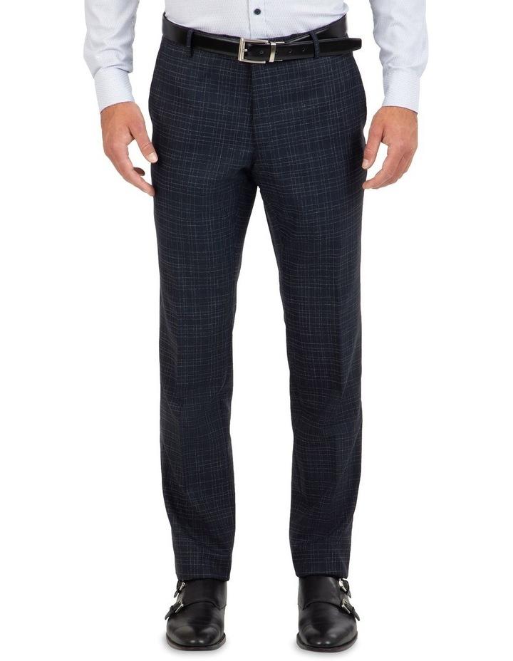 Slim Fit Caper Slub Check Wool Trouser FGK642 image 1