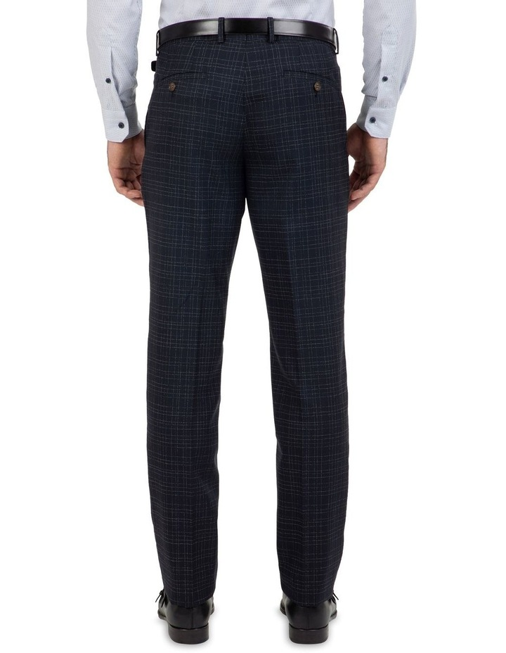 Slim Fit Caper Slub Check Wool Trouser FGK642 image 2