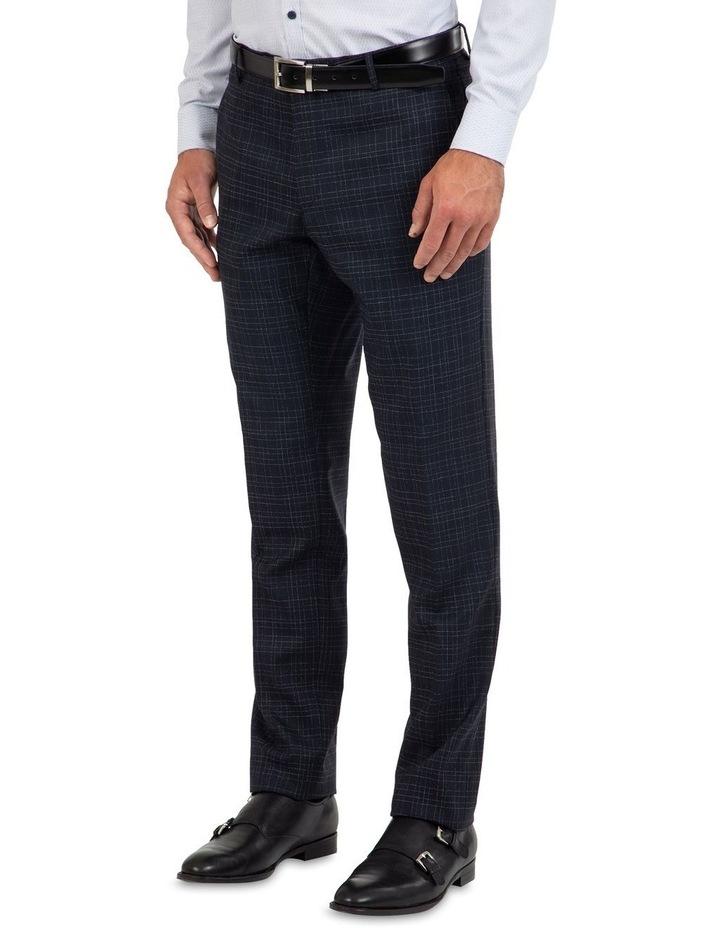 Slim Fit Caper Slub Check Wool Trouser FGK642 image 3