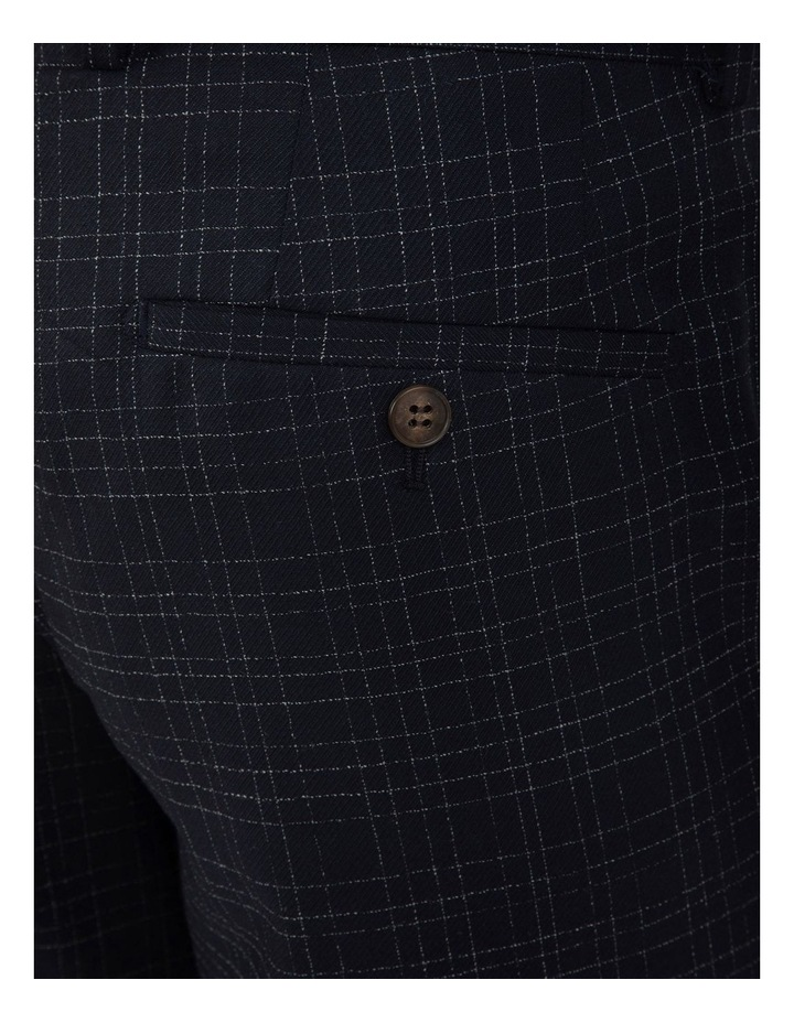 Slim Fit Caper Slub Check Wool Trouser FGK642 image 4