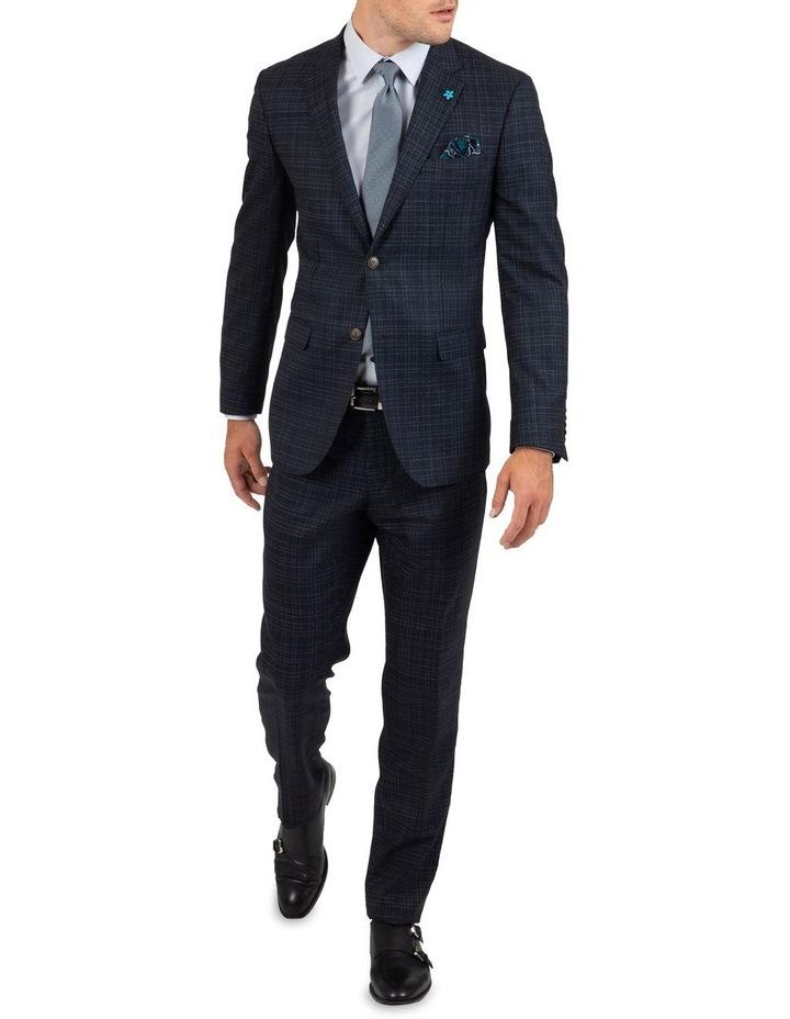 Slim Fit Caper Slub Check Wool Trouser FGK642 image 5
