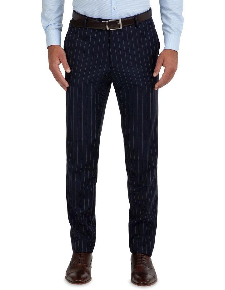 Slim Fit Caper Slub Stripe Wool Trouser FGK643 image 1