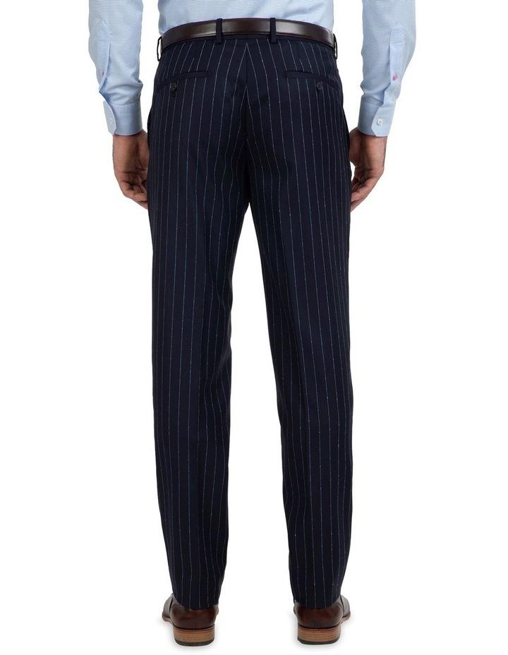 Slim Fit Caper Slub Stripe Wool Trouser FGK643 image 2
