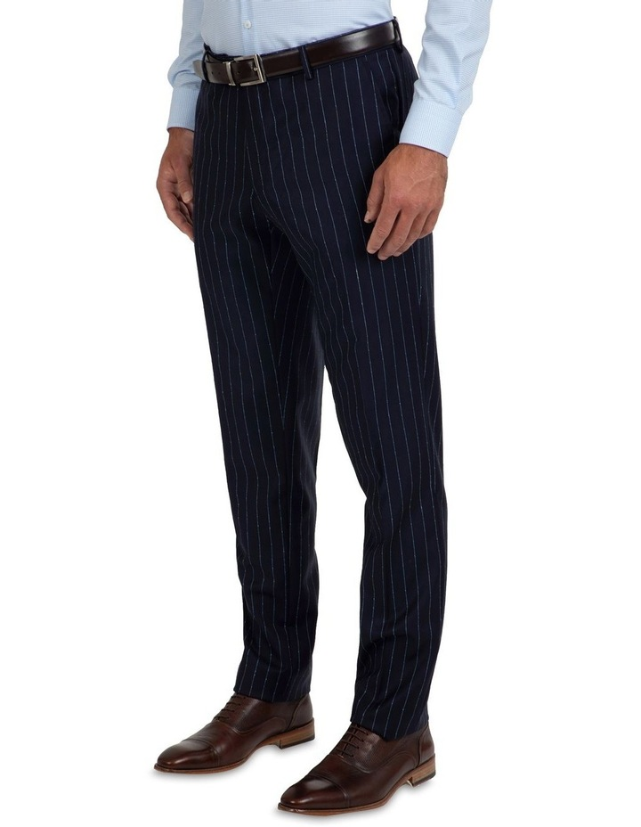 Slim Fit Caper Slub Stripe Wool Trouser FGK643 image 3