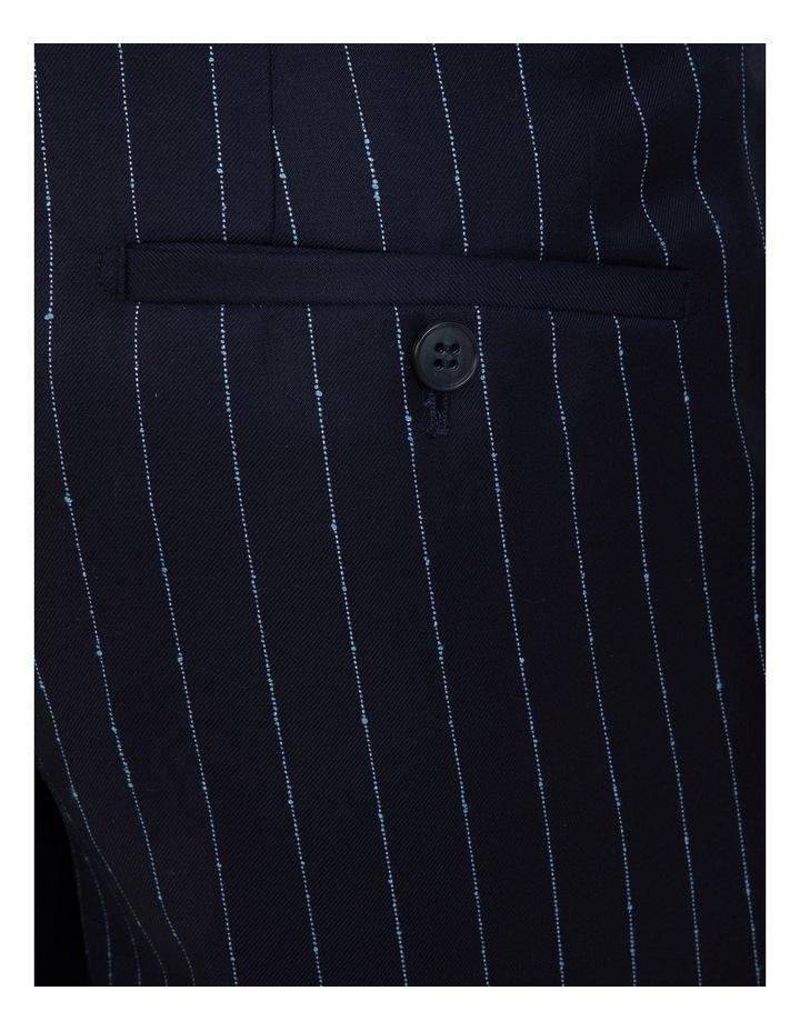 Slim Fit Caper Slub Stripe Wool Trouser FGK643 image 4