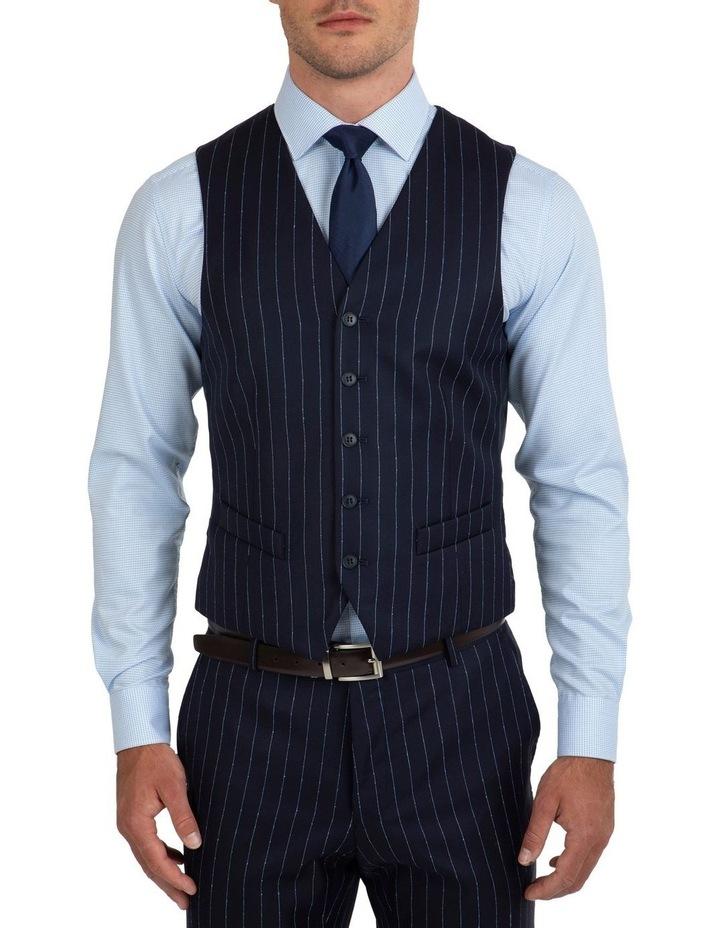 Slim Fit Mighty Slub Stripe Wool Vest FGK643 image 1
