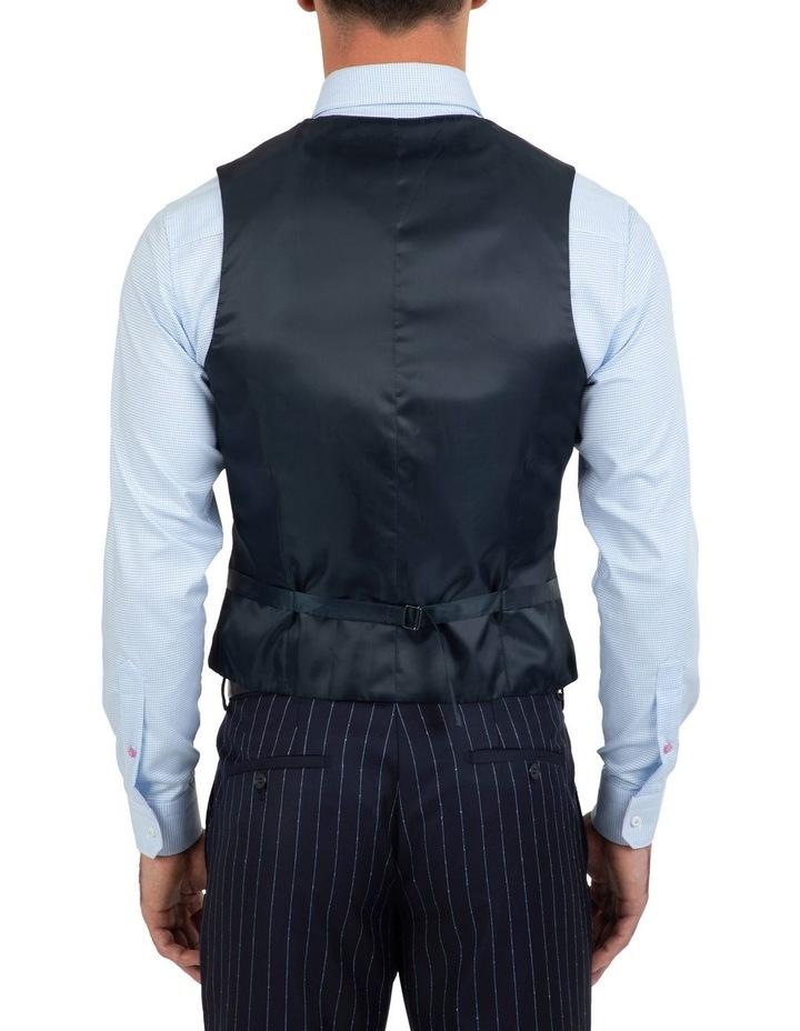 Slim Fit Mighty Slub Stripe Wool Vest FGK643 image 2