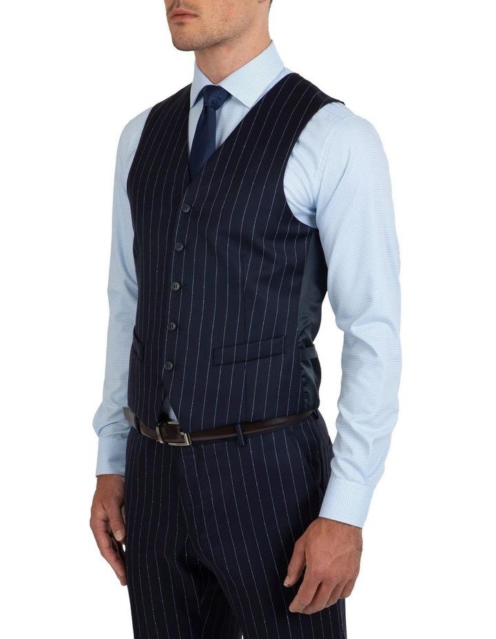 Slim Fit Mighty Slub Stripe Wool Vest FGK643 image 3