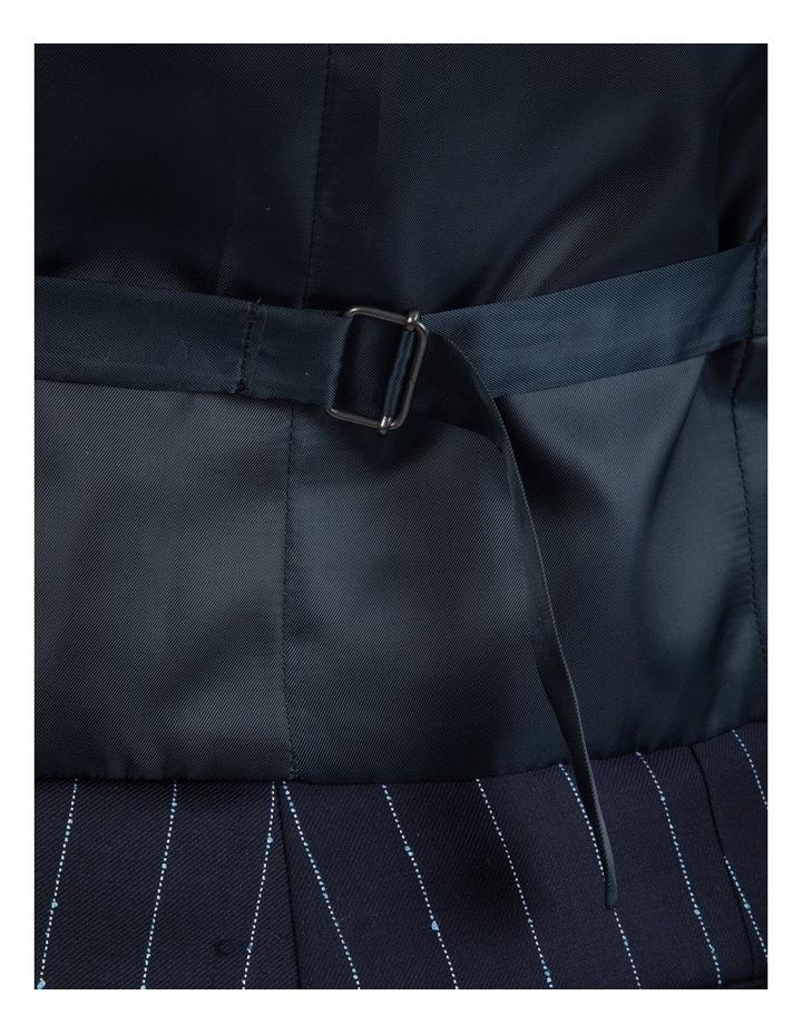 Slim Fit Mighty Slub Stripe Wool Vest FGK643 image 4