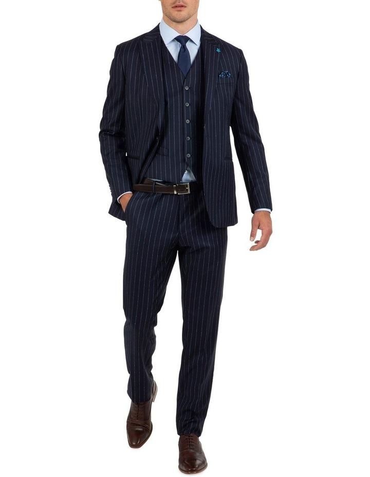Slim Fit Mighty Slub Stripe Wool Vest FGK643 image 5