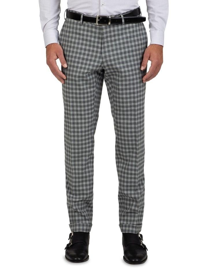 Slim Fit Radon Check Cuffed Trouser FGK645 image 1