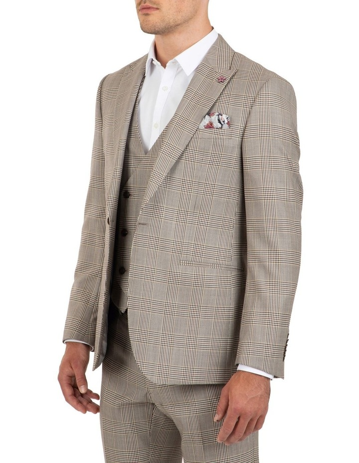 Slim Fit Ionic Prince of Wales Check Jacket FGK647 image 3