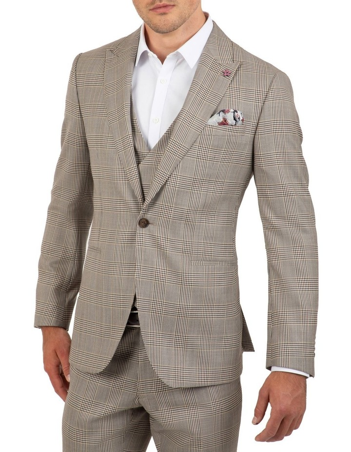 Slim Fit Ionic Prince of Wales Check Jacket FGK647 image 4