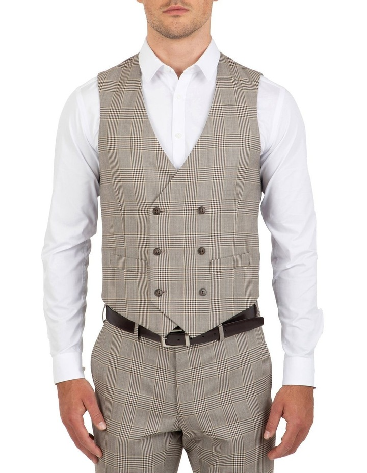 Slim Fit Joule Check Double Breasted Vest FGK647 image 1