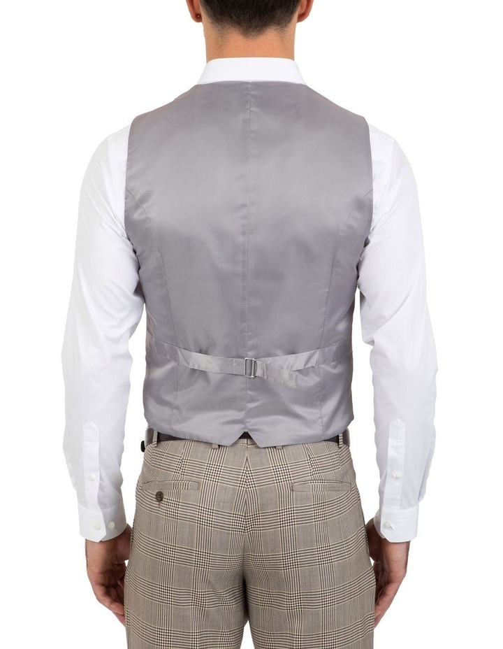 Slim Fit Joule Check Double Breasted Vest FGK647 image 2