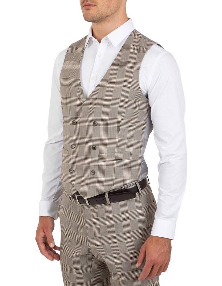 Slim Fit Joule Check Double Breasted Vest FGK647 image 3