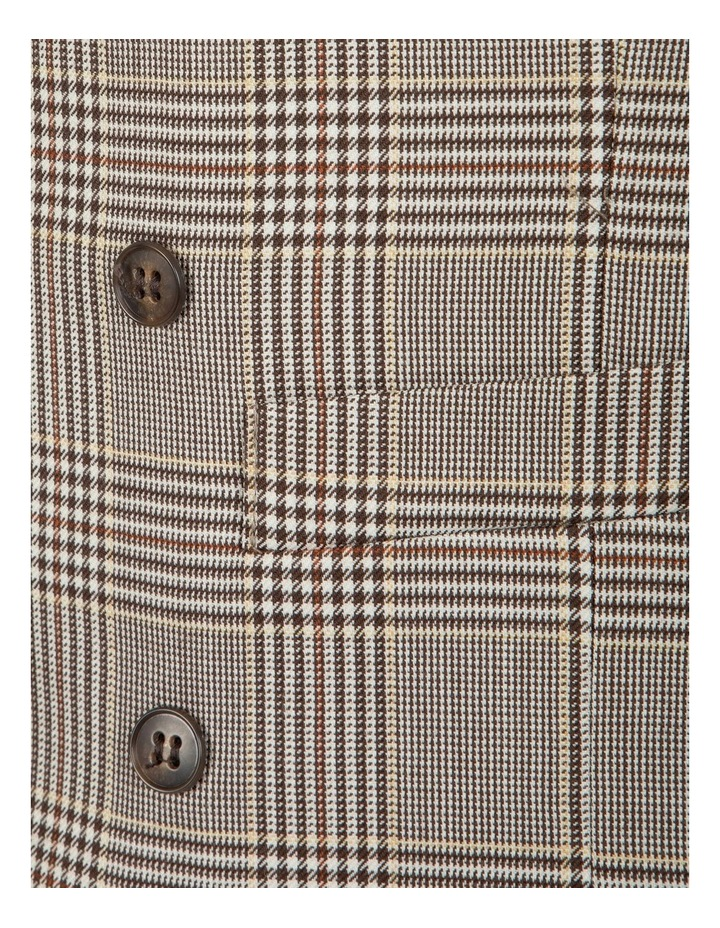 Slim Fit Joule Check Double Breasted Vest FGK647 image 5