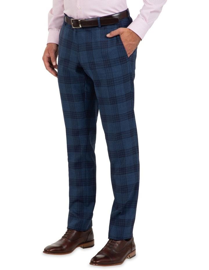 Slim Fit Caper Bold Check Wool Trouser FGL655 image 3