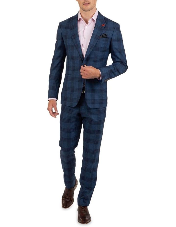 Slim Fit Caper Bold Check Wool Trouser FGL655 image 5