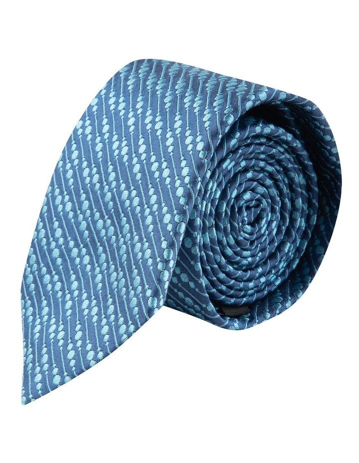 Blue Bubbles 6.5cm Silk Tie image 1
