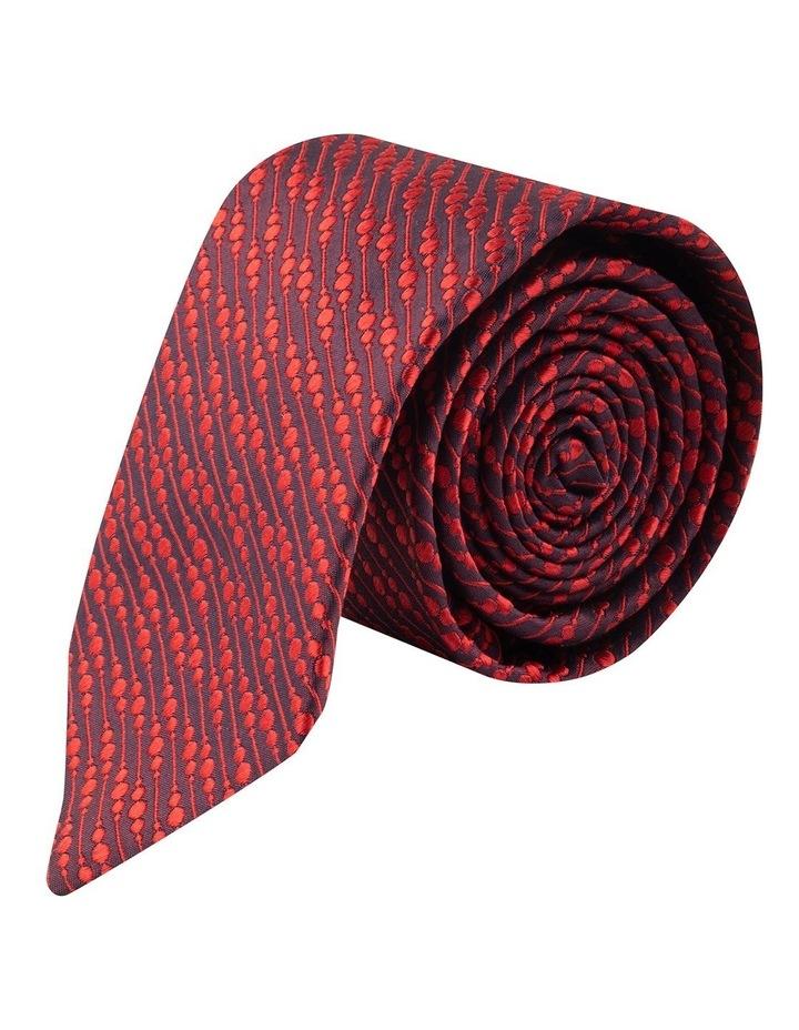 Red Bubbles 6.5cm Silk Tie image 1